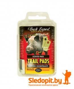 Тампоны пропитанные запахом мочи доминантного самца кабана Buck Expert 12шт