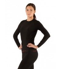 Термофутболка женская Lasting Atala из материала Seamless черная
