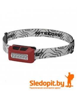 Налобный фонарь NiteCore NU10 LED 160 люмен c АКБ зарядка USB красный