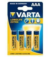 Батарейка алкалиновая VARTA LONGLIFE AAА 1.5V 4шт