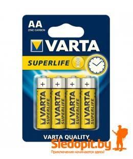 Батарейка угольно-цинковая VARTA SUPERLIFE тип AA 1.5V 4шт