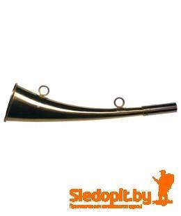 Горн охотничий латунный плоский 31см