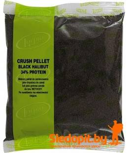 Пеллеты Lorpio протеиновые BLACK HALIBUT вкус палтус молотые черные упаковка 500г