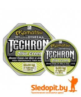 Леска плетеная  Kamatsu Techron Olive Green 100м 0.08мм-6.1кг