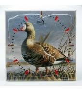 Часы настенные сувенирные БЕЛОЛОБЫЙ ГУСЬ