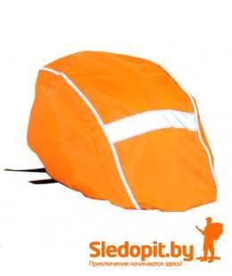 Чехол на велошлем оранжевый