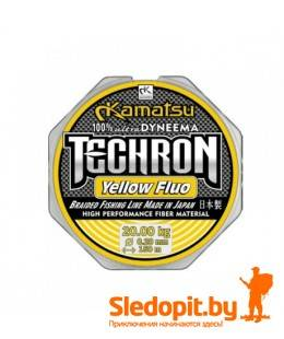 Леска плетеная Kamatsu Techron Yellow Fluo 150м 0.16мм-14кг