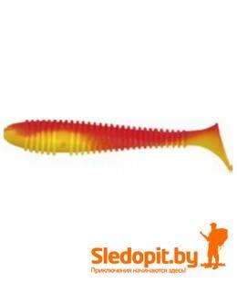 Виброхвост Konger Grubber Shad 9.5см красно-желтые