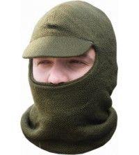 Лыжная шлем-маска с козырьком оливковая ХСН