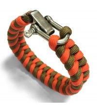 Браслет из паракорда МИКС цвет оранжевый и хаки