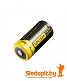 Аккумулятор NiteCore Li-Ion RCR123/16340 NL166 3.7V 650 mAh защишенный