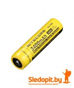 Аккумулятор NiteCore Li-Ion 18650  NL189 3.7V 3400 mAh защищенный