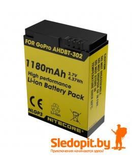 Аккумулятор NiteCore Li-ion NLGP3 AHDBT-302 для GoPro Hero3
