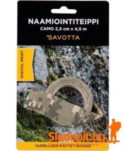 Камуфляжный эластичный скотч Savotta Camo Camouflage Tape 2.5см*4.5м