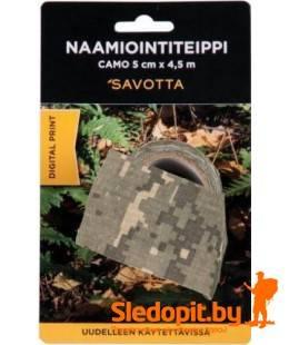 Камуфляжный эластичный скотч Savotta Camo Camouflage Tape 5см*4,5м
