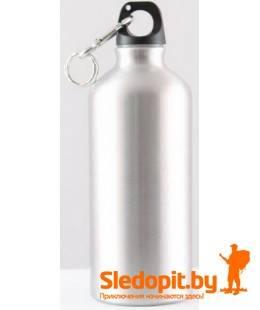 Бутылка питьевая алюминиевая СЛЕДОПЫТ с карабином 600мл