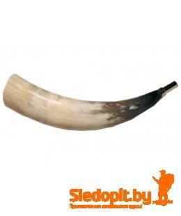 Горн охотничий из рога 25см