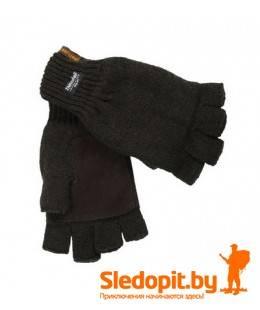 Перчатки JahtiJakt Half Finger Gloves без пальцев коричневые