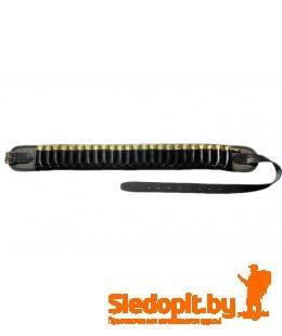 Патронташ Vektor открытый капроновый с газырями и ремнем из натуральной кожи