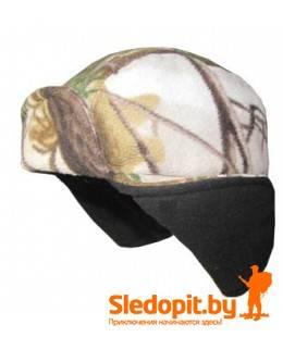Шапка-ушанка флисовая камуфляжная