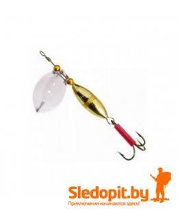 Вращающаяся блесна Zebco Zyrium Spinner серебро золото 7г