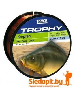 Леска для карповой ловли Zebco Trophy Carp 450м 0.32мм-7.5кг
